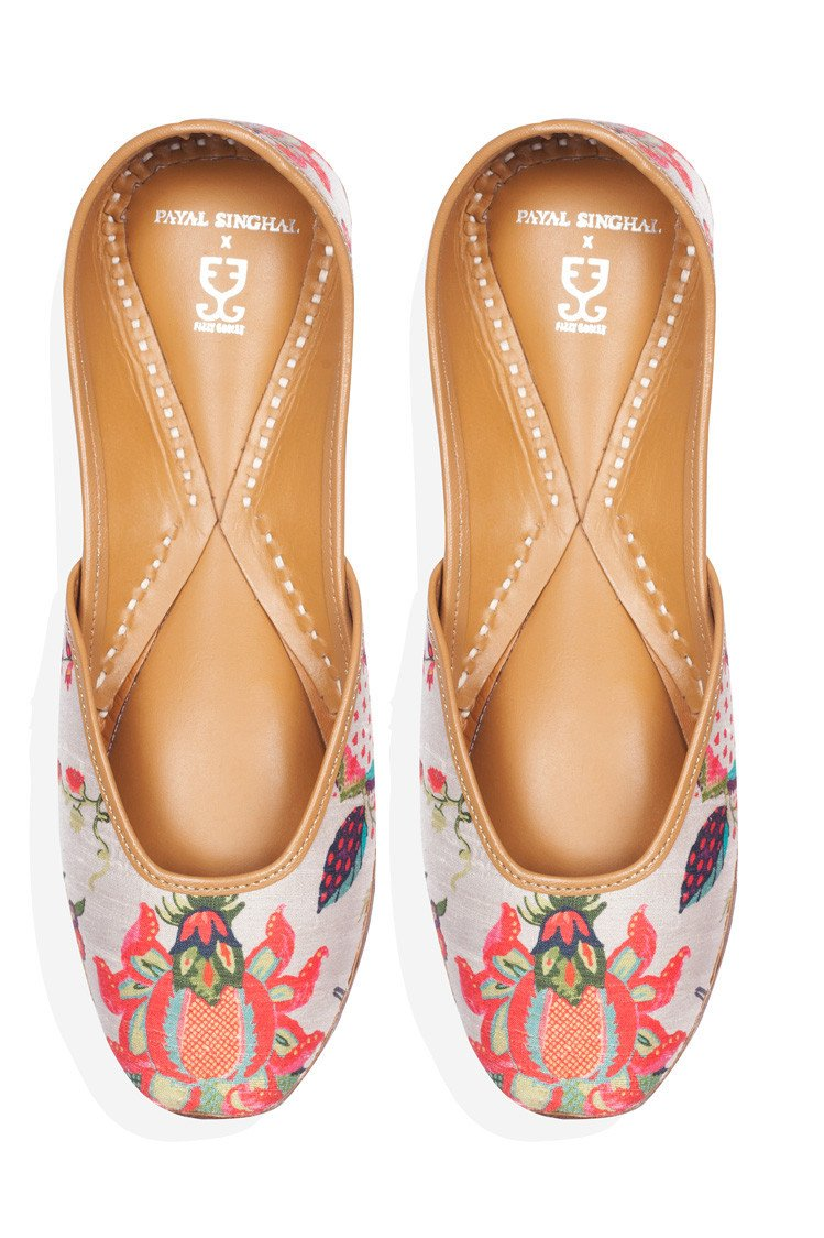 Shoes - Jootis - Pomegranate Passion: Payal Singhal X Fizzy Goblet