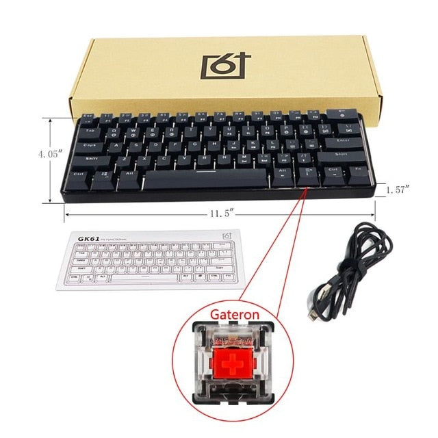Gaming Mechanical Keyboard USB Wirelss 61 Key