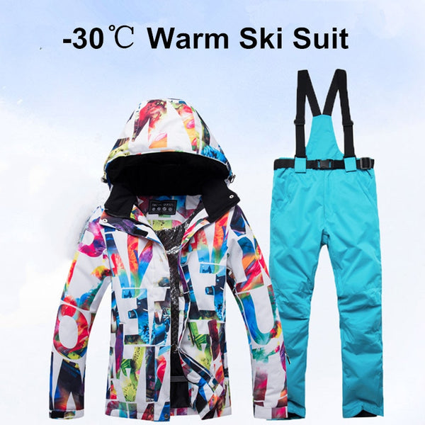 Women Skiing Jacket Pants Combo