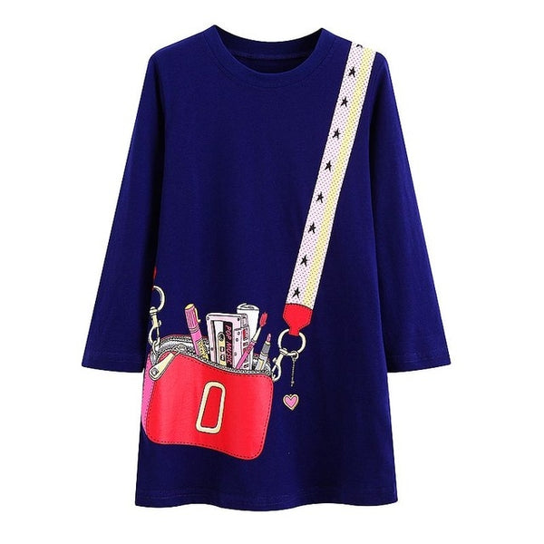 Girls Clothes Toddler Dress illusion bag