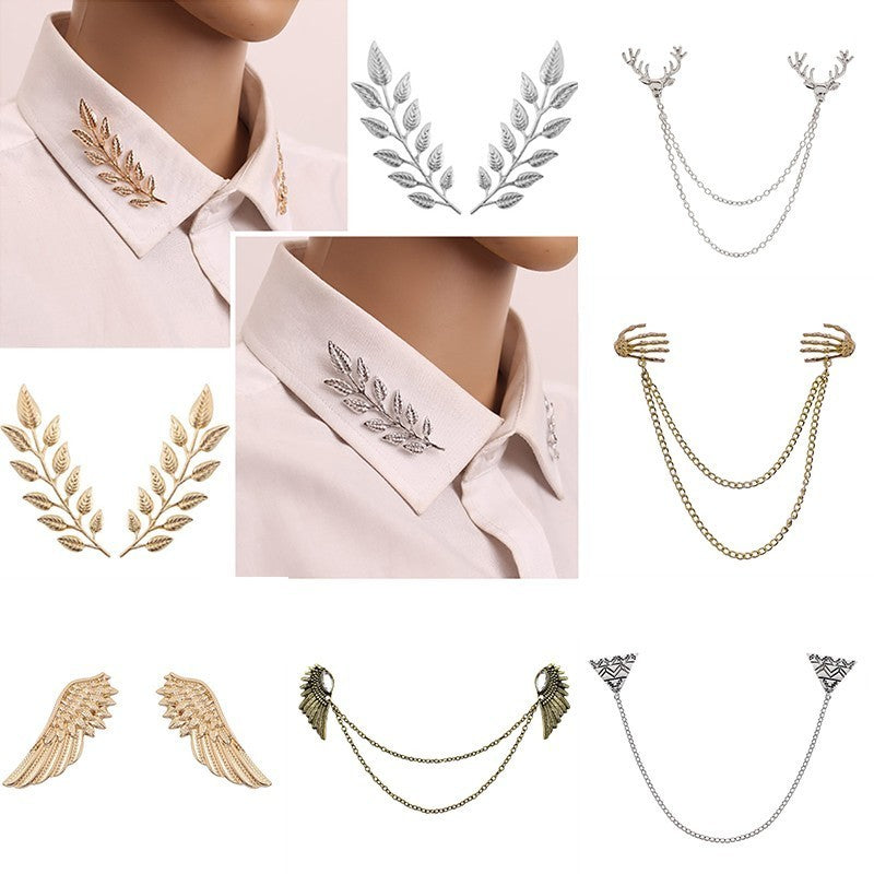 Tree Leaf Brooches Pins Women Men