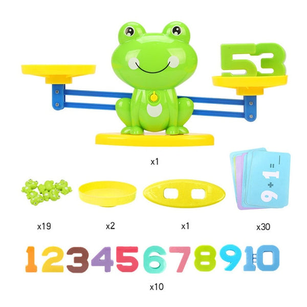 Math Match Board Toy Balancing Scale