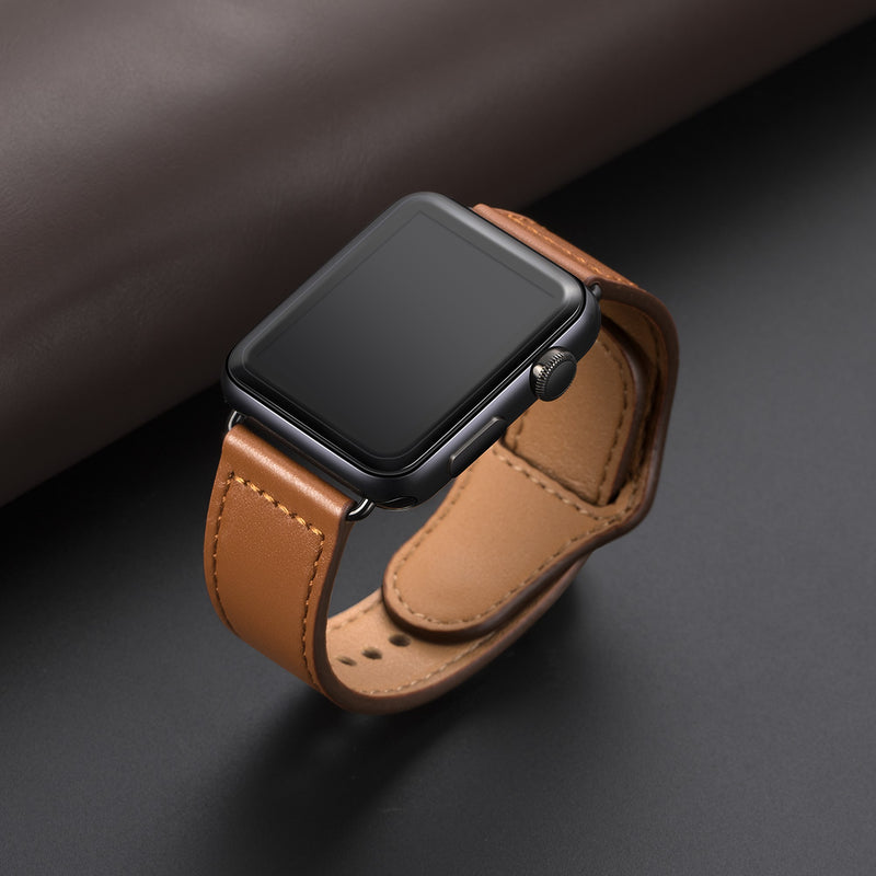 Genuine leather loop strap for apple watch