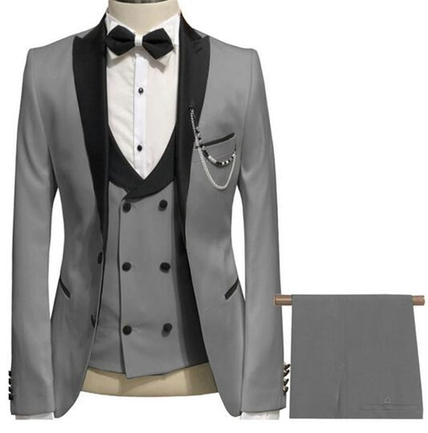 Elegant Grey Men Suit Slim Fit
