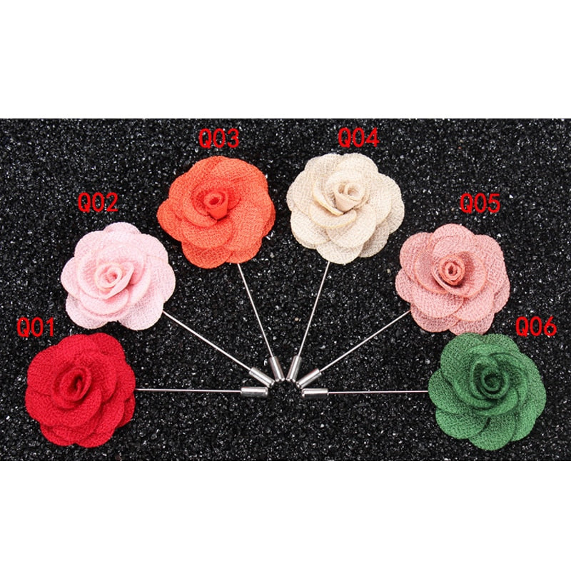 Lapel Pin Brooch Men Fashion Wedding Boutonniere 5pc/pack
