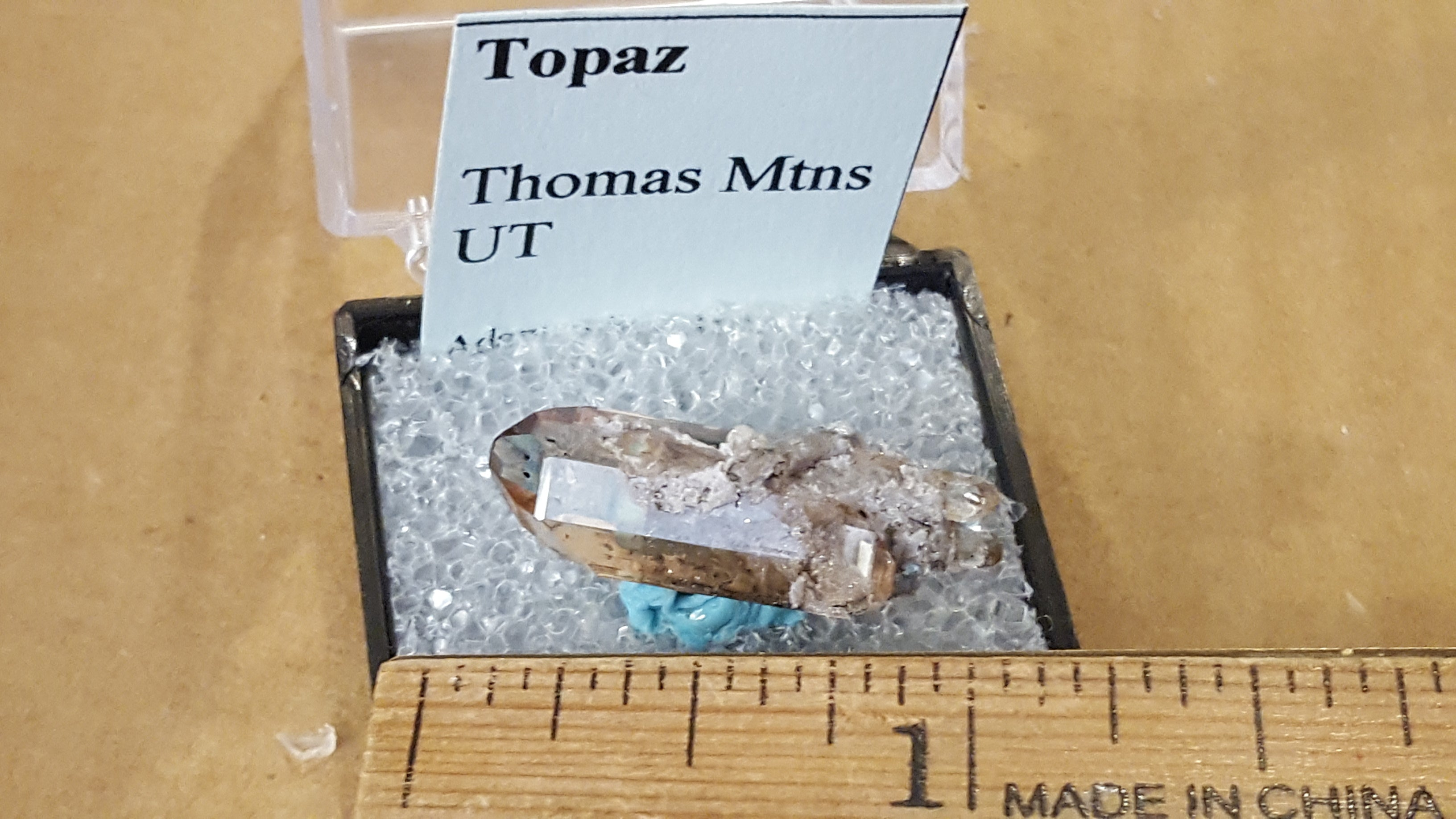Double Terminated Topaz Specimen