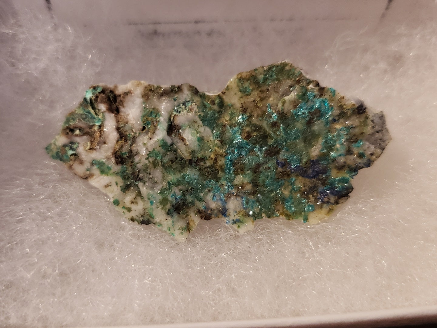 Juanitaite with Tyrolite and Connellite
