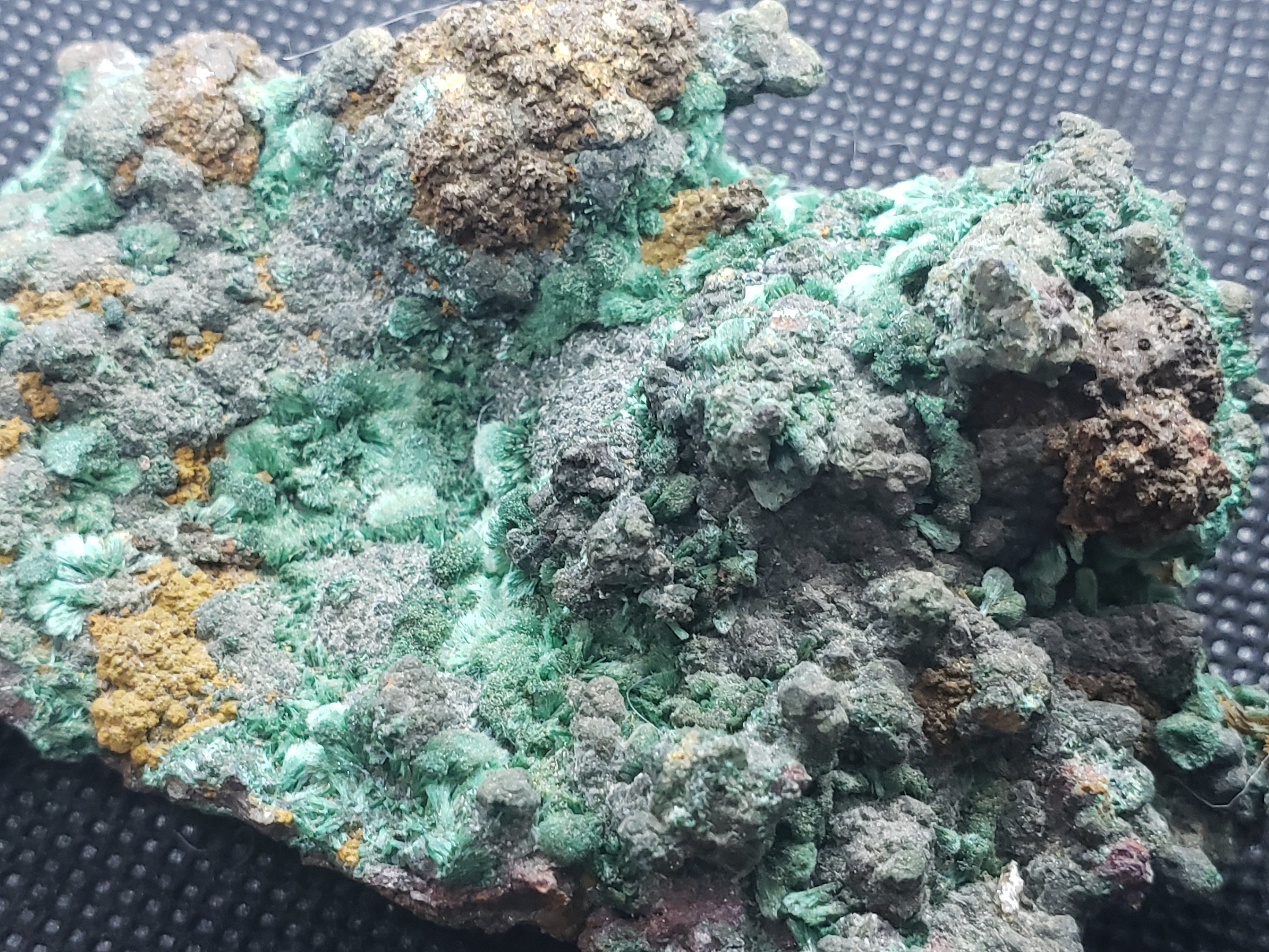 Malachite crystals