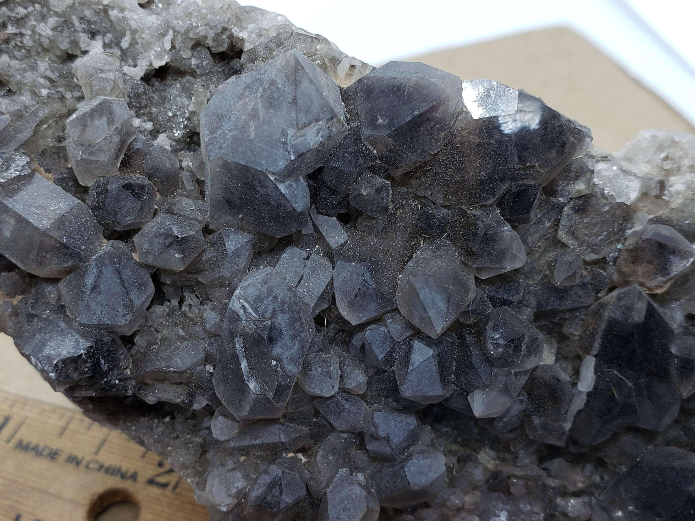 Monazite Ce included smoky quartz