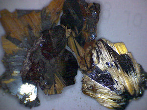 Rutile with hematite crystals