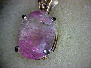 Pinkish Purple Tourmaline Pendant