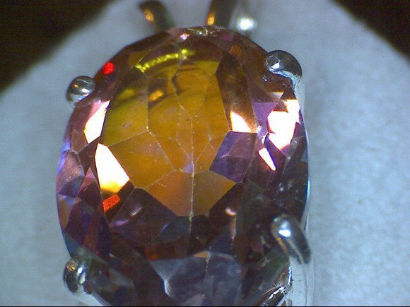 Azotic Fire Topaz Pendant