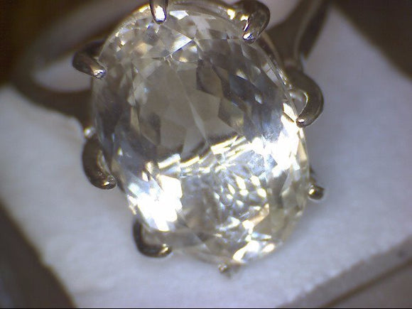 Yellow Kunzite Ring