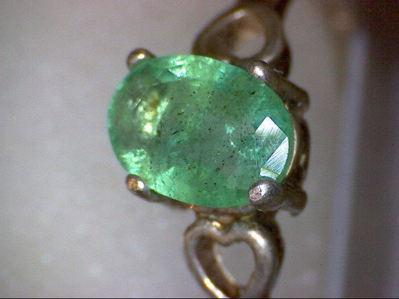 Vintage Emerald Heart Ring
