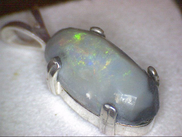 Hand cut Lightning Ridge Opal Pendant