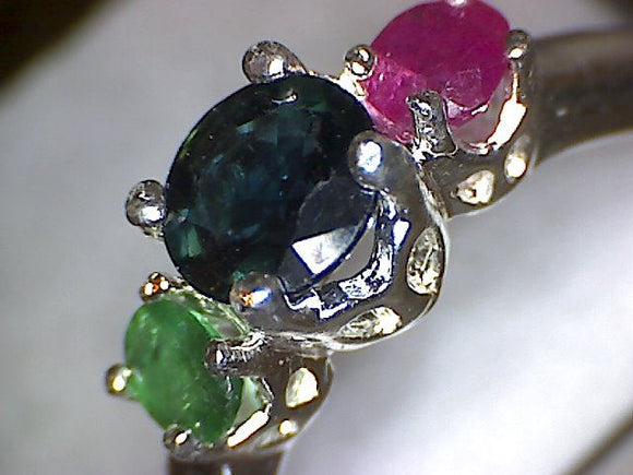 Sapphire Emerald Ruby Fancy Ring