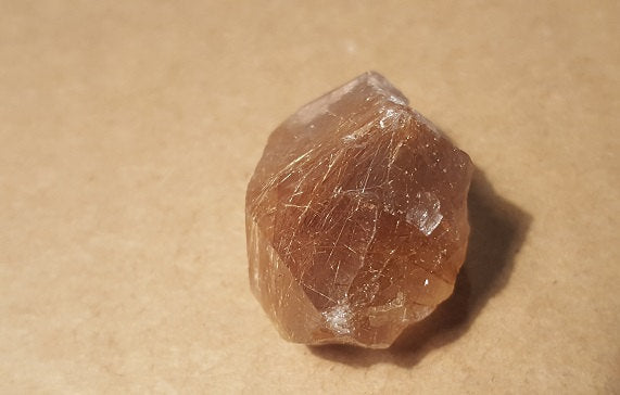 Rutilated quartz specimen