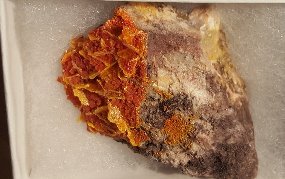 Wulfenite on Mimetite specimen