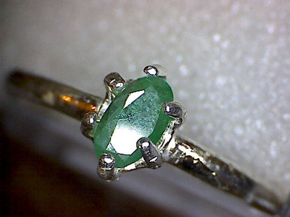 Emerald Oval Petite Birthstone Ring