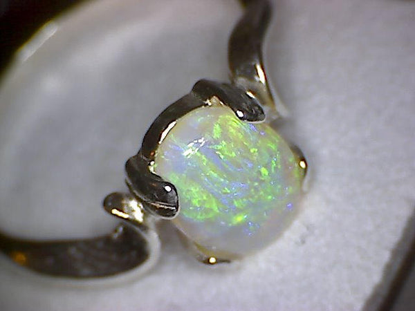 Lightning Ridge Australian Opal Swirl Ring