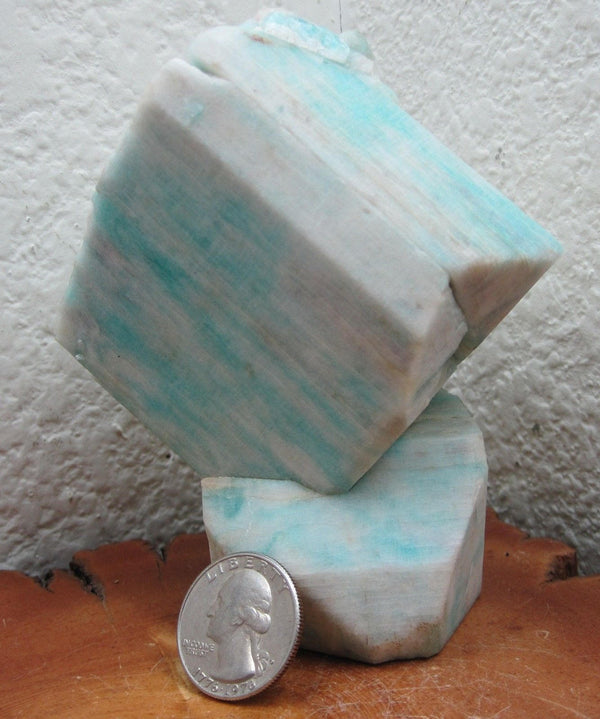 Amazonite -- Colorado Manebach Twin Amazonite crystal