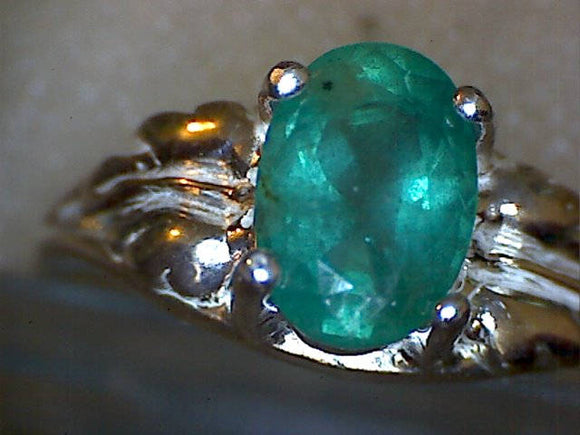 Zambian Emerald Leaf Ring
