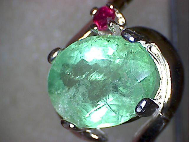 Zambian Emerald and Ruby Ring