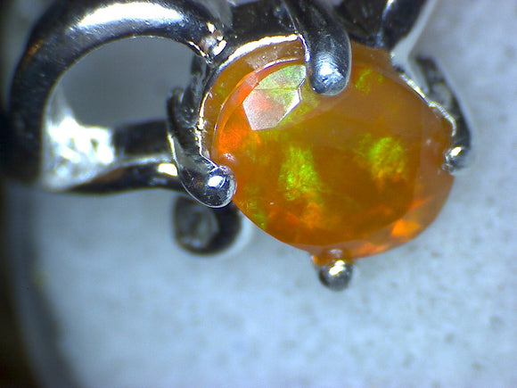 Welo Opal Faceted Ring
