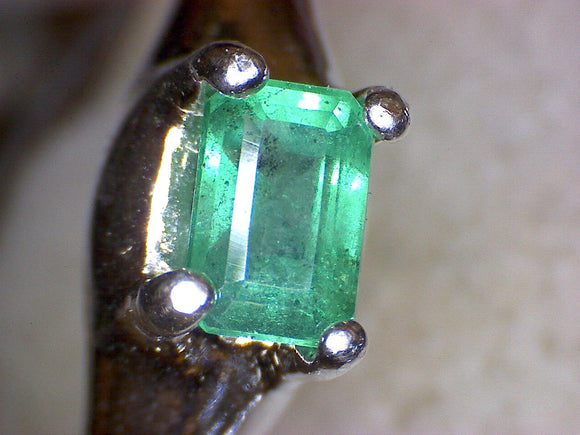 Side Set Colombian Emerald Ring