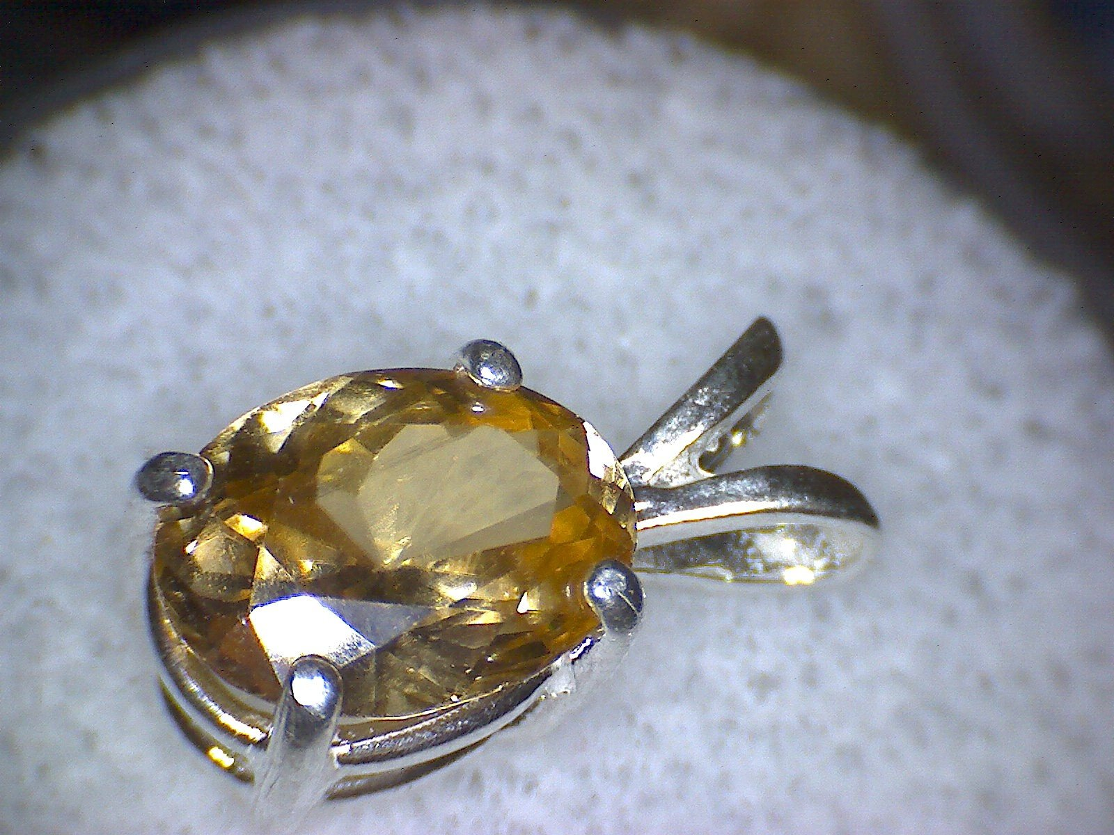 Honey Zircon Pendant