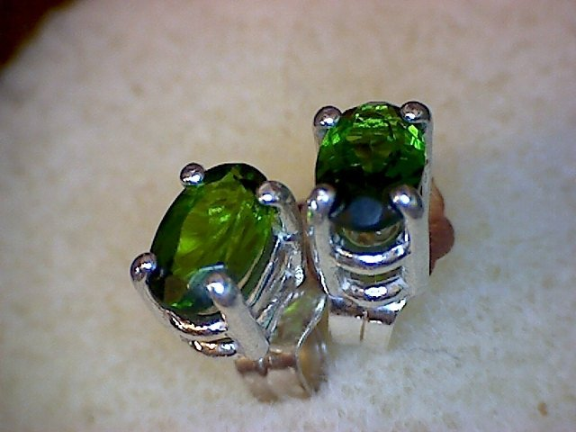Chrome Diopside Earrings and Pendant Set