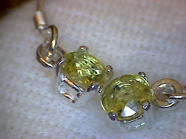 Dangle Yellow Sapphire Earrings