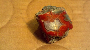 Polished Red Agate specimen