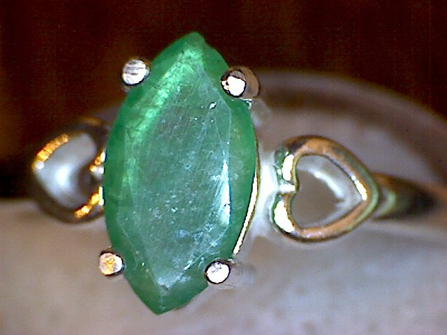 Colombian Emerald Heart Ring