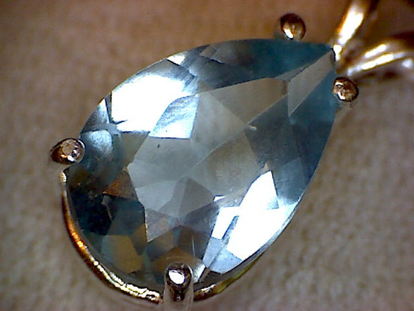 Pear London Blue Topaz Pendant