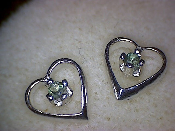 Alexandrite Heart Earrings