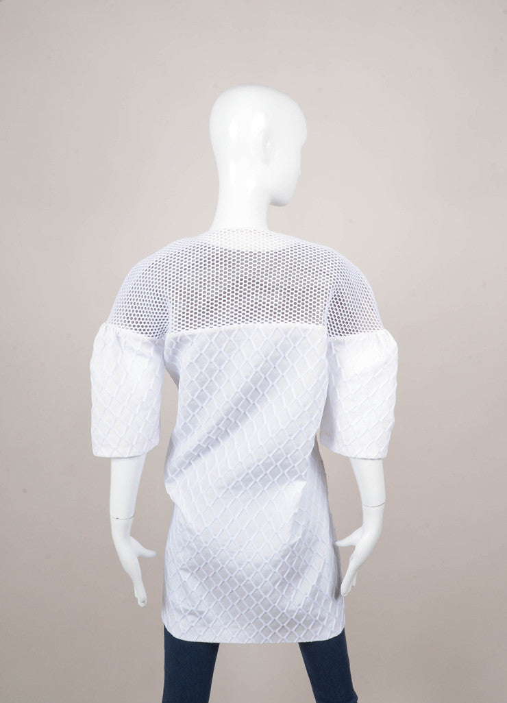 New With Tags White Short Sleeve Mesh Cocoon Jacket