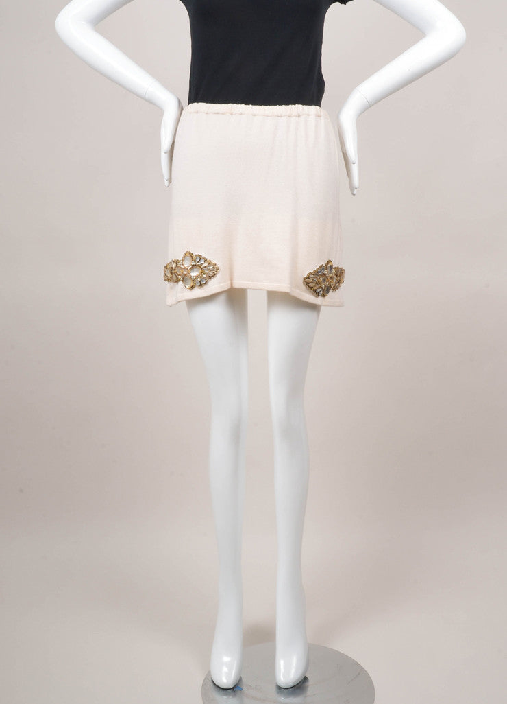 Cashmere Miniskirt With Embellishments