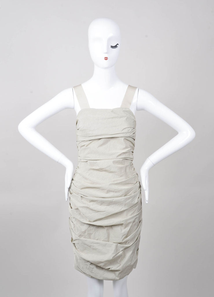 Ruched Sleeveless Elastic Band Dress
