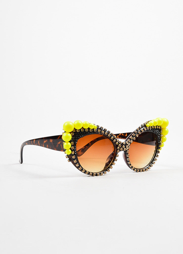 "Yellow Tortoise Shell A-morir ""Mitchell"" Sunglasses Front"