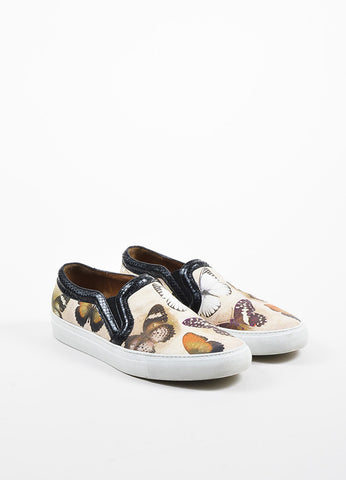 Multicolor Givenchy Leather Python Trim Butterfly Slide On Sneakers Frontview