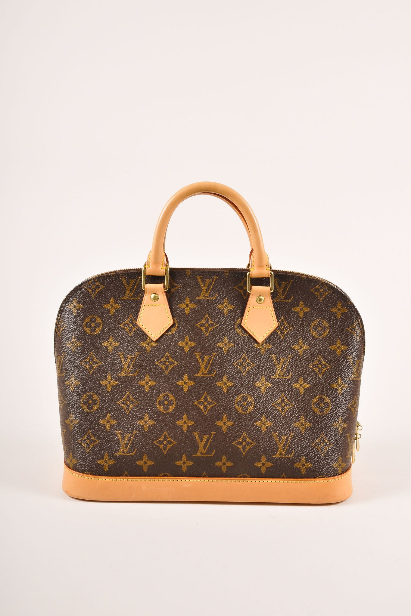 "Louis Vuitton Brown Monogram Canvas ""Alma PM"" Handbag Frontview"