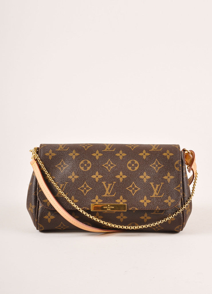 Louis Vuitton Monogram Canvas Favorite MM Shoulder Bag Frontview