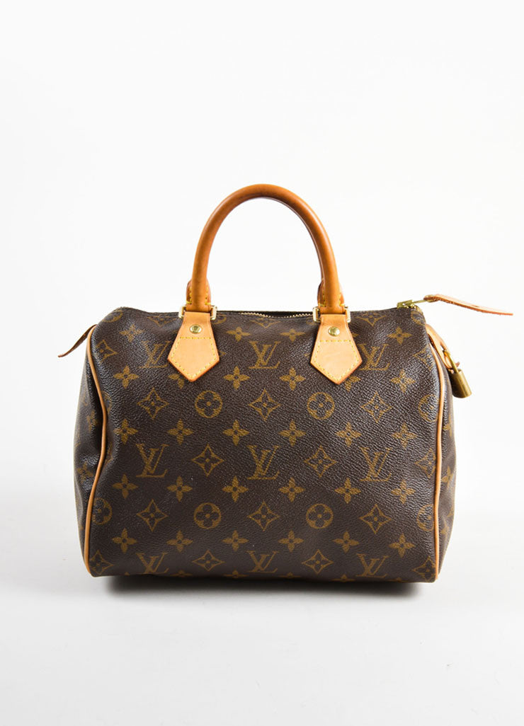 "Louis Vuitton Brown Monogram Canvas 25cm ""Speedy"" Bag Frontview"
