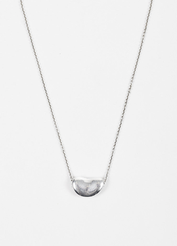"Tiffany & Co. Sterling Silver ""Bean"" Necklace Detail"
