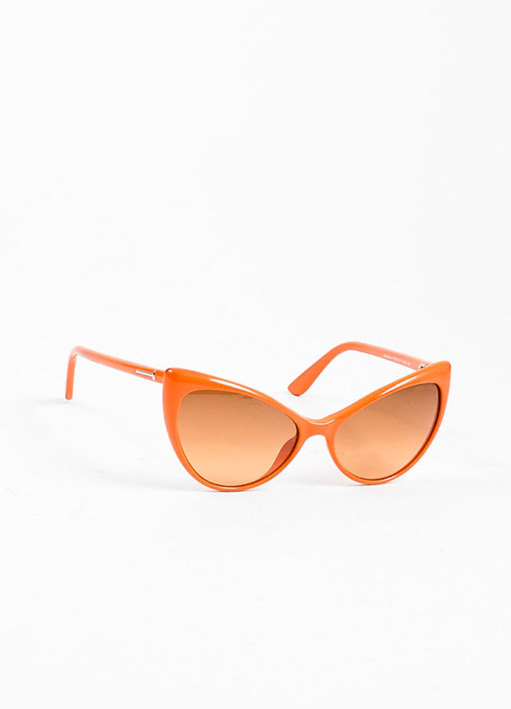 "Orange Tom Ford Acetate Gradient Tint Cat Eye ""Anastasia"" Sunglasses Sideview"