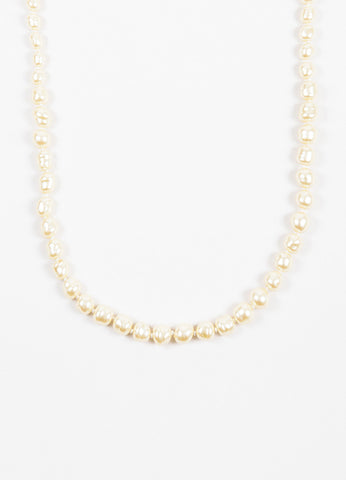 Chanel Faux Pearl Rope Length Strand Necklace Detail