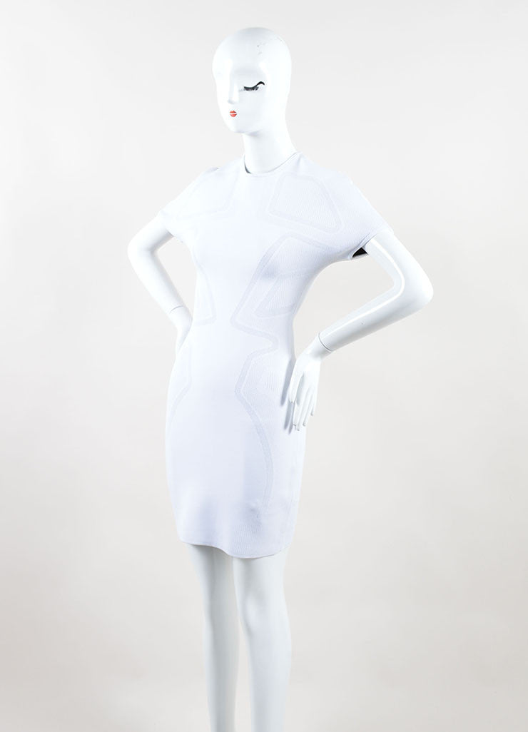 Alexander Wang White Short Sleeve Bodycon Dress Side