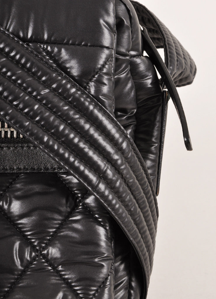 Chanel Black Nylon Coco Cocoon Puffer Messenger Crossbody Bag Detail 2