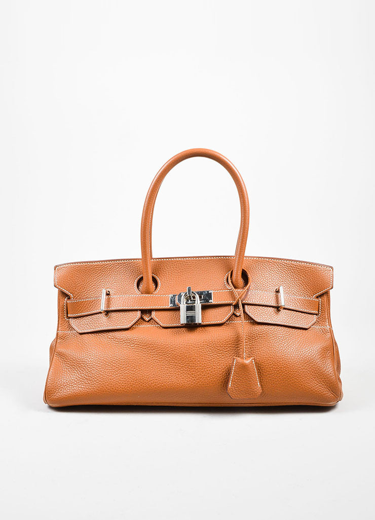 Caramel Tan Hermes JPG for Hermes Leather 42cm Birkin Front
